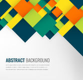 Abstract background with colorful squares. Business design template. Vector. Illustration Stock Images