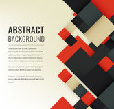 Abstract background with colorful squares. Business design template. Vector. Illustration Royalty Free Stock Photography