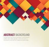 Abstract background with colorful squares. Business design template. Vector. Illustration Stock Image