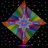 Abstract background with colorful star and rainbow glitter Stock Photos