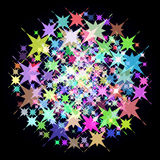 Abstract background with colorful stars. Vector. Stock Photo