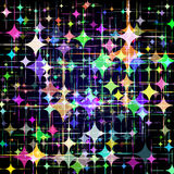 Abstract background with colorful stars. Vector. 1 Royalty Free Stock Image