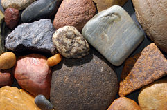 Abstract background with colorful stones Stock Photo