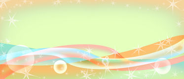 Abstract background with colorful stripes. And balls vector illustration