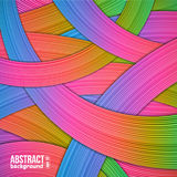 Abstract background from colorful strips. Vector illustration Stock Photography