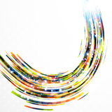 Abstract background-colorful swirl lines. Stock Image