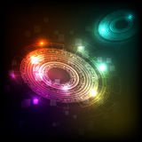 Abstract background with colorful technology futuristic Stock Photos
