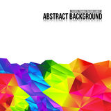 Abstract background colorful triangle polygonal element 005 Stock Image
