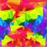 Abstract background colorful triangle polygonal element 003 Royalty Free Stock Photo