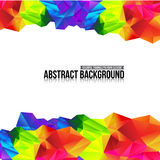 Abstract background colorful triangle polygonal element 006. Abstract background triangle polygon element vector illustration Royalty Free Stock Photography