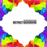 Abstract background colorful triangle polygonal element 001 Stock Photography