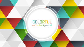 Abstract  background with colorful triangles and circle for your main text. Stock Photo