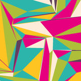 Abstract background with colorful triangles for magazines, bookl. Ets or mobile phone lock screen Royalty Free Illustration