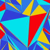 Abstract background with colorful triangles for magazines, bookl. Ets or mobile phone lock screen Stock Photos