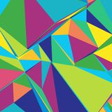 Abstract background with colorful triangles for magazines, bookl. Ets or mobile phone lock screen vector illustration