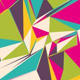Abstract background with colorful triangles for magazines, booklets or mobile lock screen. Abstract background with colorful triangles for magazines, booklets or stock illustration