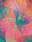 Abstract background. With colorful triangles.Triangles arranged in a spiral Royalty Free Stock Photography