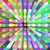 Abstract background of colorful tubes. Illustration of colorful tubes for use as background Stock Photo