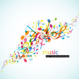 Abstract background with colorful tunes. Vector art Stock Images
