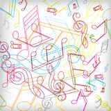 Abstract background with colorful tunes. Vector art Stock Image