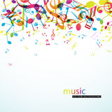 Abstract background with colorful tunes. stock illustration