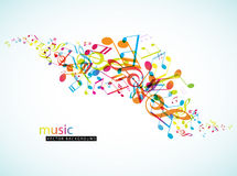 Abstract background with colorful tunes. Vector art Royalty Free Stock Images
