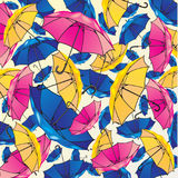 Abstract background from colorful umbrellas. Abstract background from multi-coloured umbrellas vector illustration