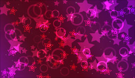Abstract background. Abstract colorful wallpaper with many lights, circles and stars Royalty Free Stock Photos