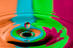 Abstract background colorful water droplet making splash Stock Photo