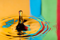 Abstract background colorful water droplet making splash Stock Image