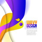Abstract background with colorful waves. Stock Photos