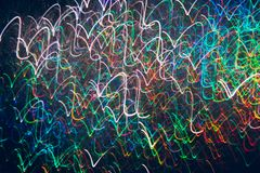 Abstract background of colorful waves in motion Stock Photos