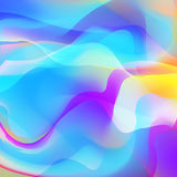Abstract background with colorful waves. Vector. Stock Image