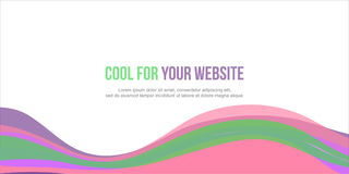 Abstract background colorful website header. Vector illustration royalty free illustration