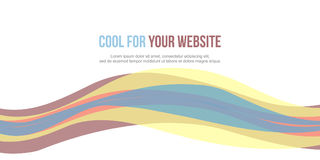 Abstract background colorful website header. Vector illustration Stock Photography