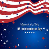 Abstract background in colors of american flag. Independence Day or Veterans Day theme background. Stock Image