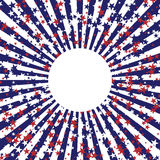 Abstract background in colors of american flag. Independence Day or Veterans Day theme background. Stock Photo