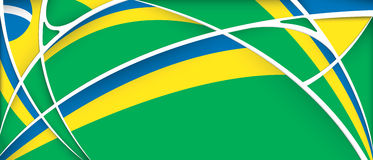 Abstract background with colors of Brazil flag Royalty Free Stock Photos