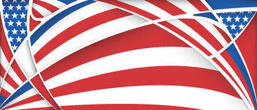 Abstract background with colors of USA flag Stock Photography