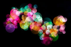 Abstract background colourful bokeh circles. Beautiful background with space for layout design Stock Photography