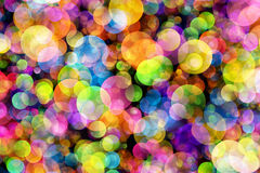 Abstract background colourful bokeh circles. Beautiful background with space for layout design vector illustration
