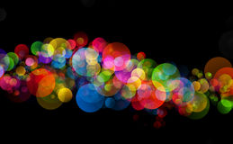 Abstract background colourful bokeh circles. Beautiful background with space for layout design Royalty Free Stock Photos