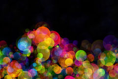Abstract background colourful bokeh circles. Beautiful background with space for layout design Stock Image