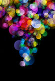 Abstract background colourful bokeh circles. Beautiful background with space for layout design Royalty Free Stock Photo