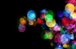 Abstract background colourful bokeh circles. Beautiful background with space for layout design Royalty Free Stock Images