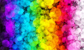Abstract background colourful bokeh circles. Beautiful background with space for layout design Stock Images