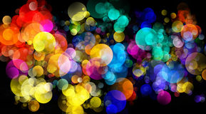 Abstract background colourful bokeh circles. Beautiful background with space for layout design Royalty Free Stock Image