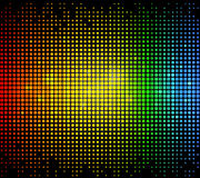 Abstract background. Colourful glowing dots technology background on black Royalty Free Stock Image