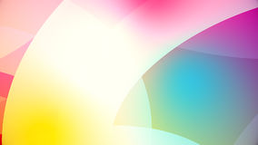 Abstract background from colourful huge shapes. Glassy and transparent surfaces Stock Photo
