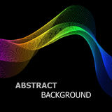 Abstract background with colourful line wave Royalty Free Stock Photos